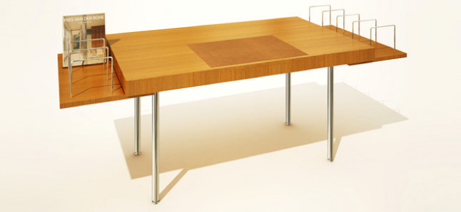 The Desk Is A Modified Version Of The Desk That Mies Van Der Rohe Designed  In 1928 For The Owners Of The Tugendhat House In Brno In Todayu0027s Czech  Republic.